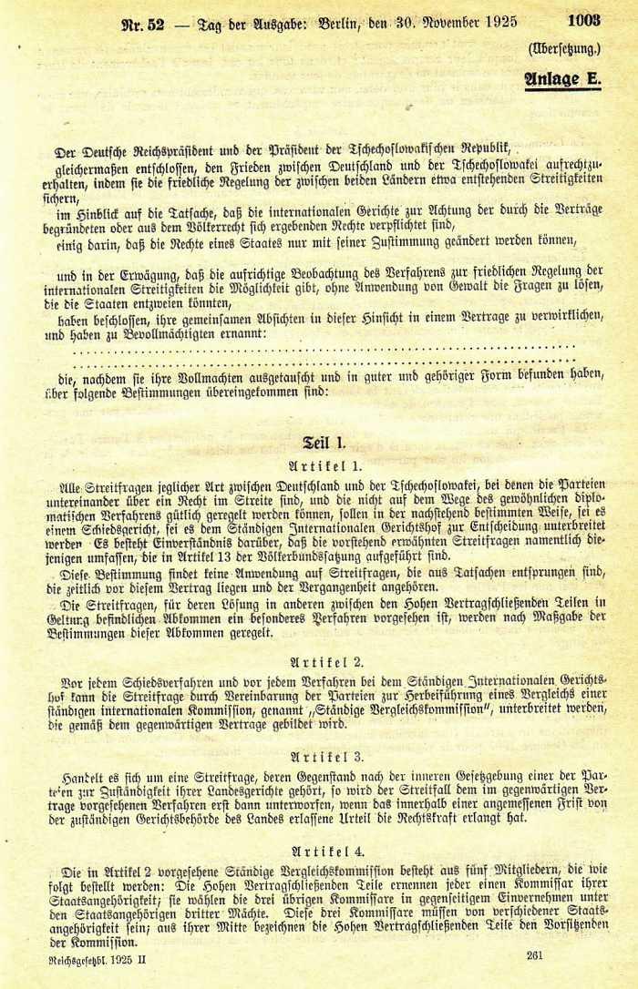Faksimile Der Vertrag von Locarno, 16. Oktober 1925 / Bayerische ...