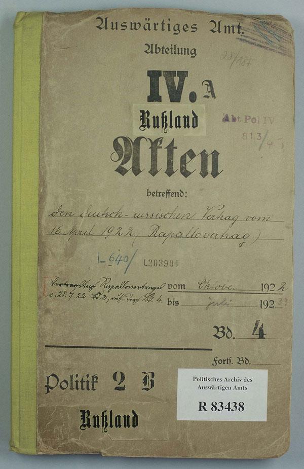 Zusammenfassung Der Deutsch Russische Vertrag Rapallo Vertrag 16