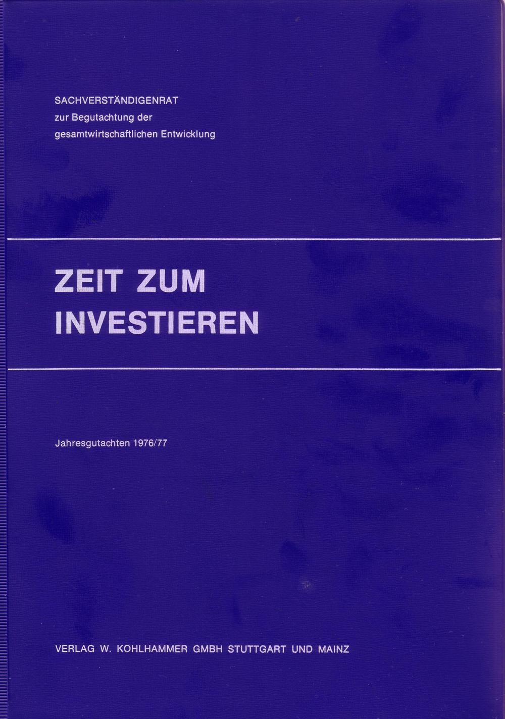 Zusammenfassung Zeit Zum Investieren Jahresgutachten Des