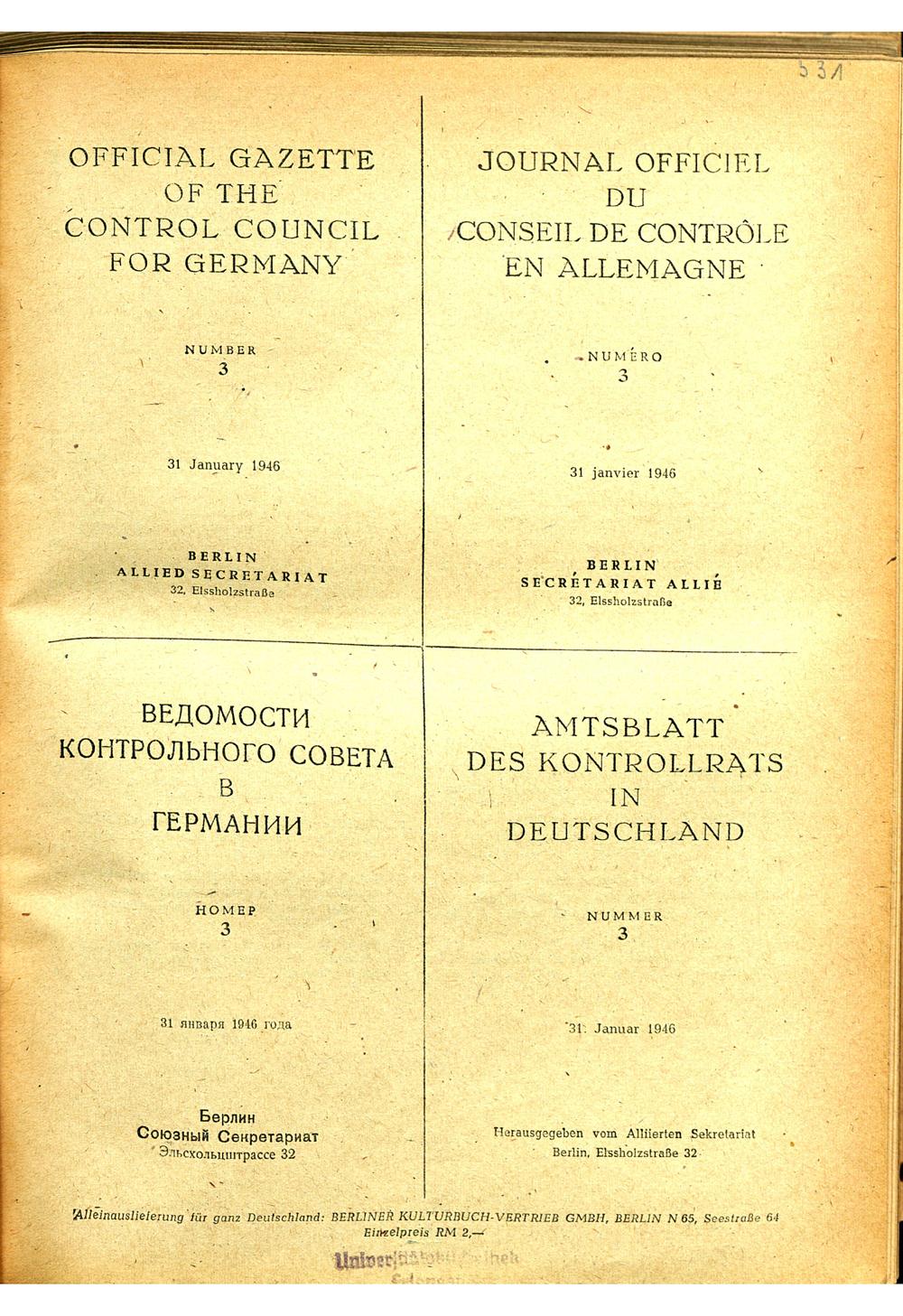 Zusammenfassung Gesetz Nr 10 Des Alliierten Kontrollrates In
